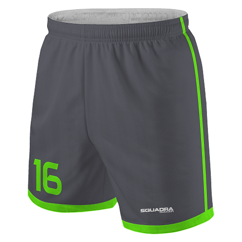 Impact Game Shorts, Grey/Neon Green (Home)