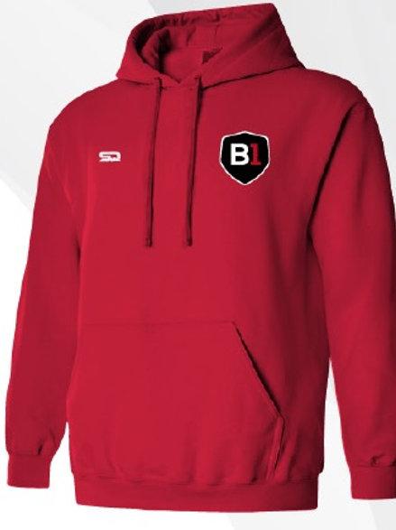 B1USA Premium Thermal Hoodie Red