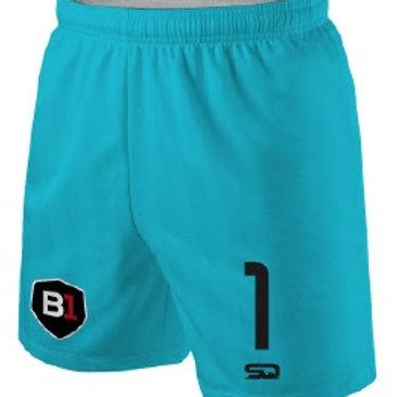 B1USA Goal Keeper Game Shorts Teal