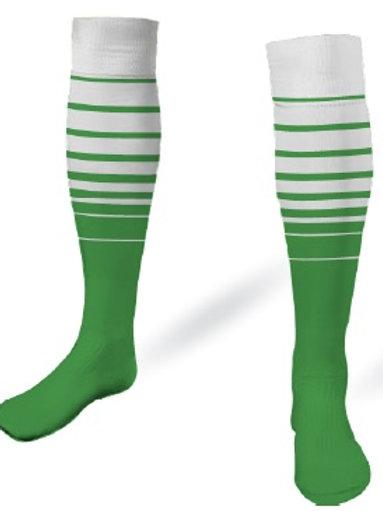 SPSA Player Game Socks White-Green
