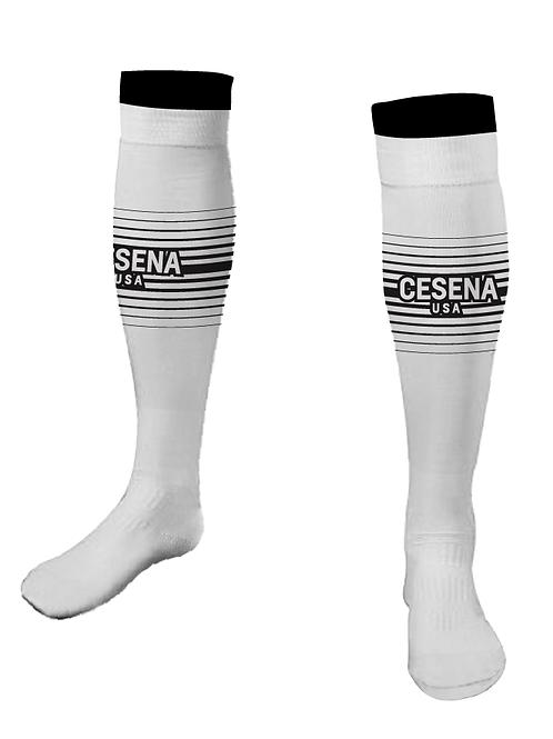 Cesena Game Socks, White