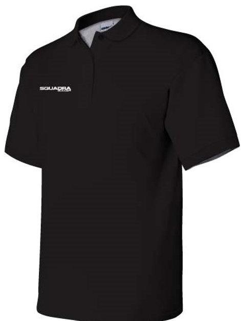 3-Button Black Polo