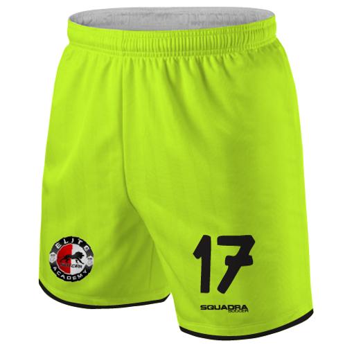 Elite SA Player Game Shorts Neon Yellow