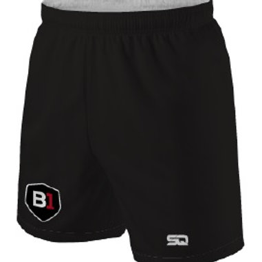 B1USA Player/GK Training Shorts Black