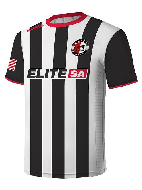 Elite SA Player Game Jersey Black-White (Home)