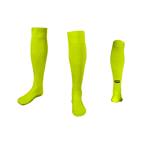 SQ Athletic Socks - AN Fluorescent Yellow (Pack of 6)