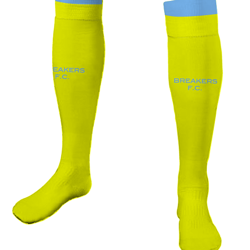 Official Breakers FC PLAYER/GK Game Socks Neon