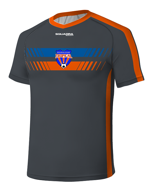 TROPICAL SOCCER Player Game Jersey Grey