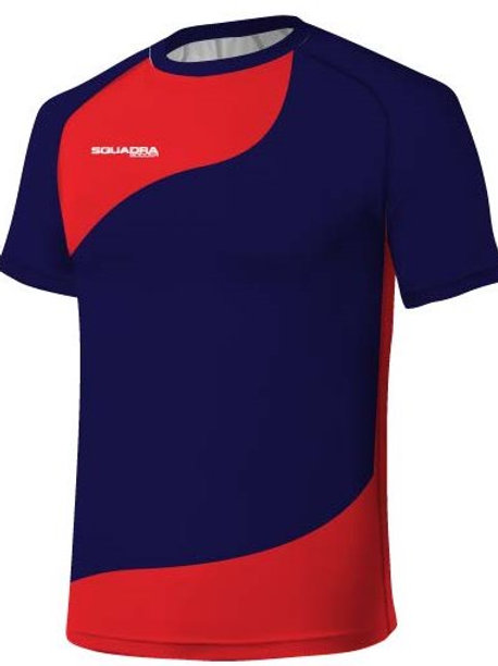 Navy Blue / Red Jersey