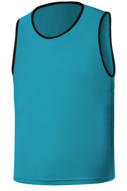 SQ Training Bib - Blue Turquoise Blank