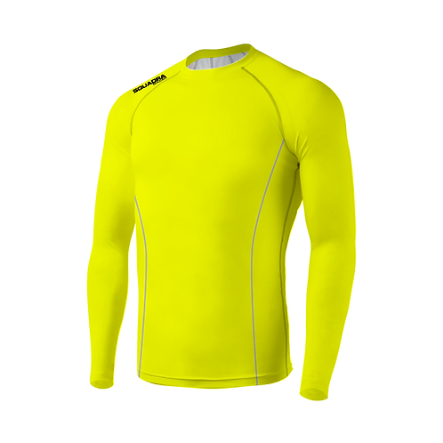 SQUADRA Compression Jersey LS Neon Green