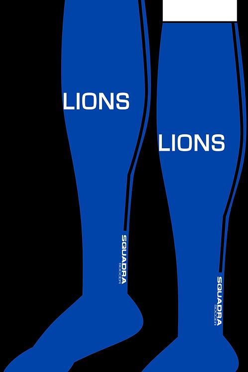 Naples Lions Player Game Socks Blue