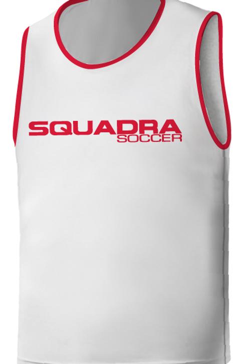 SQ Training Bib - White with Red