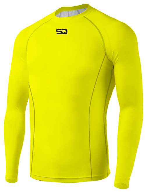 SQ Compression Jersey LS Neon Green