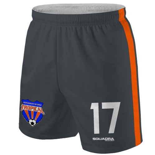 TROPICAL SOCCER Player Game Shorts Grey