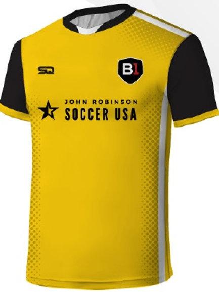 B1USA Player Game Jersey Gold-Black