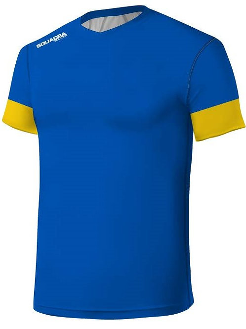 Blue Jersey with Yellow Cuffs