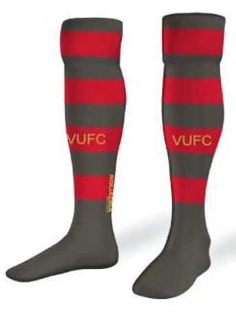 VARDAR Game Socks Red-Grey