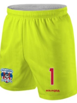 HEAT STRIKERS GK Game Shorts Neon Yellow (Home)