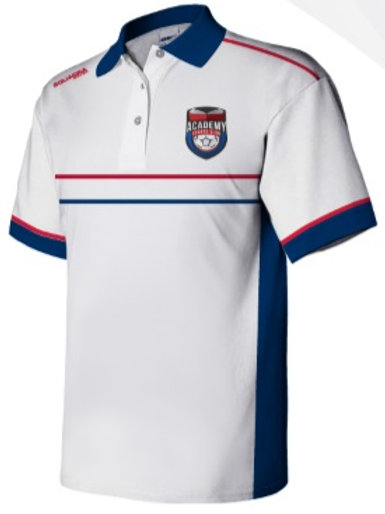 ASC Travel Polo White-Blue