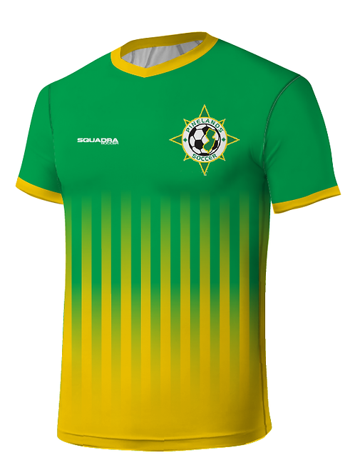 PSA TRAVEL Player Game Jersey Green-Gold