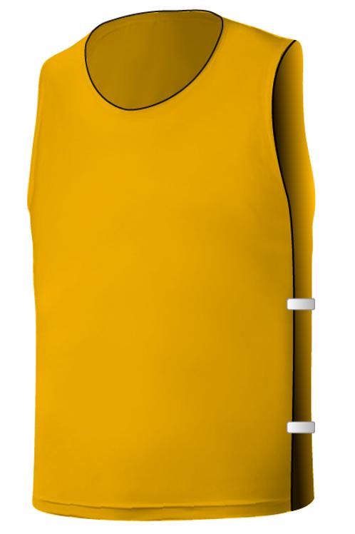 SQ Training Bib - Yellow Gold Blank with Elastic