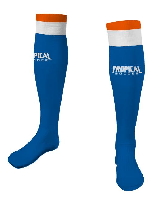 TROPICAL SOCCER Game Socks blue