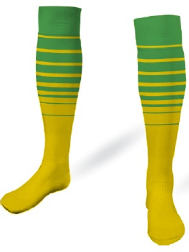 SPSA Player Game Socks Green-Gold
