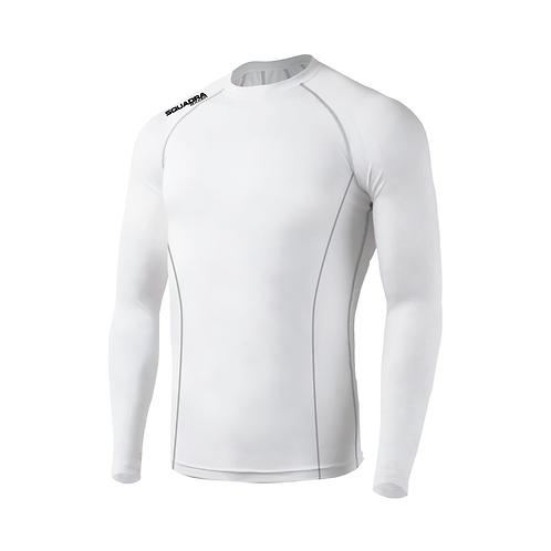 SQUADRA Compression Jersey LS White