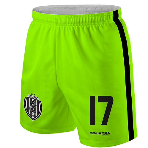 Cesena Game Shorts, Neon Yellow