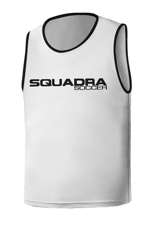 SQ Training Bib - White with Black