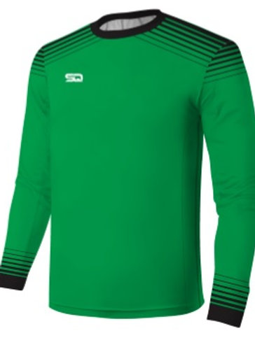 SQ Goal Keeper LS Jersey-Green-Black (include Logo and Number)