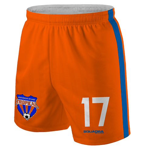 TROPICAL SOCCER Player Game Shorts Orange