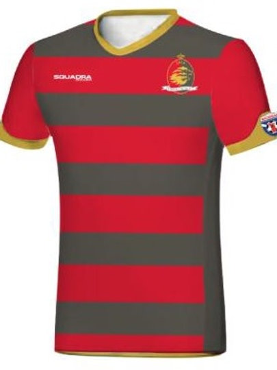 VARDAR Game Jersey Red-Grey with Player Name
