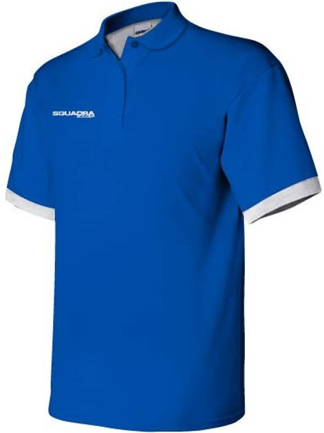 3-Button Royal Blue Polo with White Cuffs