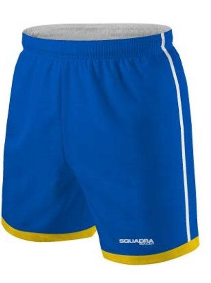 Royal Blue Shorts Yellow Cuffs