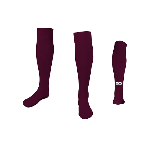 SQ Athletic Socks - G Burgundy (Pack of 6)