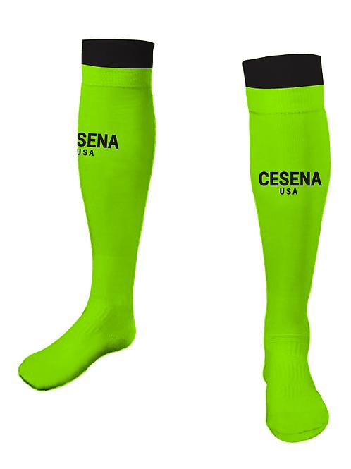 Cesena Game Socks, Neon Yellow