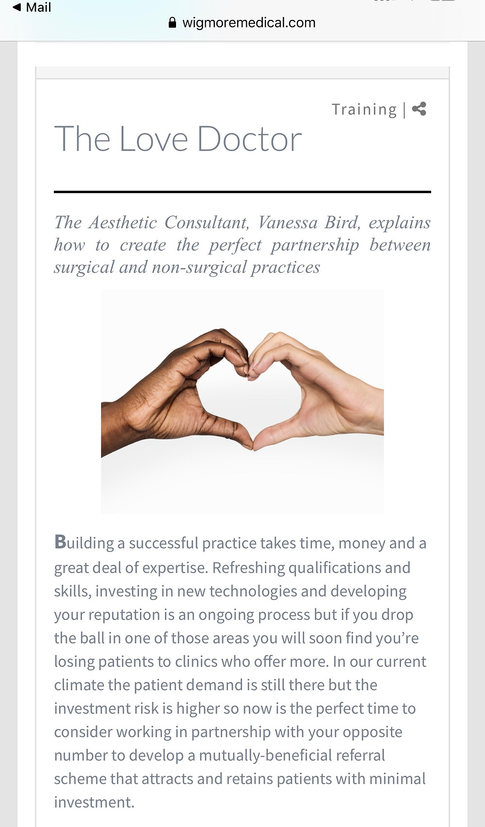 Why working with you opposite number in surgical and non-surgical aesthetics can build your business.