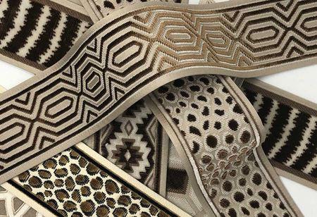 Velvet trims by Texture Fabrics