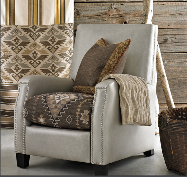 Kravet braided leather trim in use.
