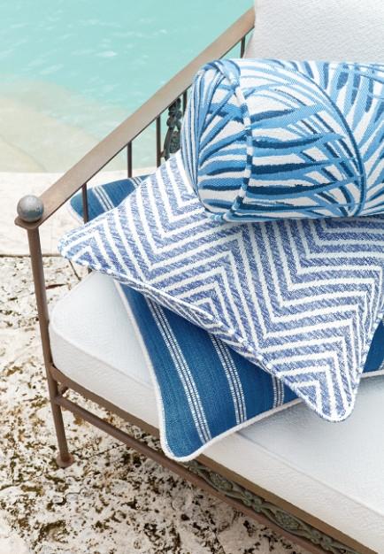 Oasis outdoor fabrics from Thibaut - Photo courtesy of Thibaut