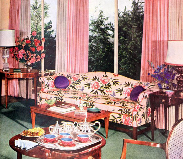 Vintage Living Room with Draperies