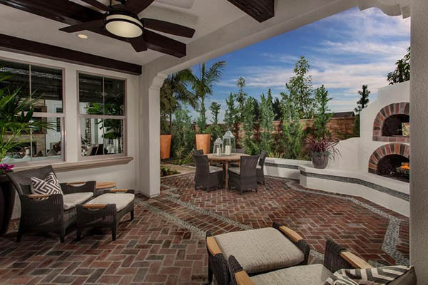 Indoor/Outdoor area in custom home.