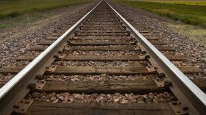 Railroad tracks heading to infinity