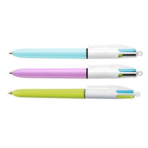 Penna 4 colori BIC Pastel fun