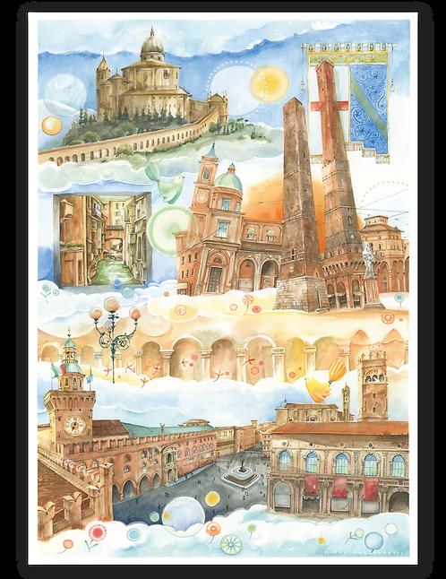 """Puzzle 50x70 """"Bologna"""" LineaGoccioline di Mirka Perseghetti"""