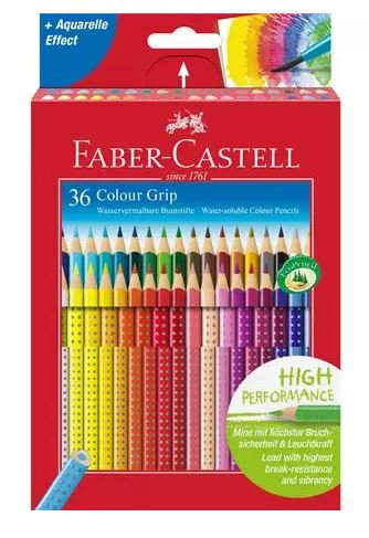 Set 36 matite colorate colour grip FABER CASTELL