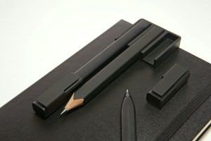 Set 3 grip pen + clip pen holder MOLESKINE