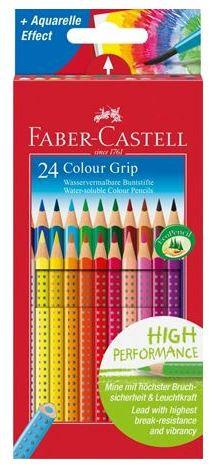 Set 24 matite colorate colour grip FABER CASTELL